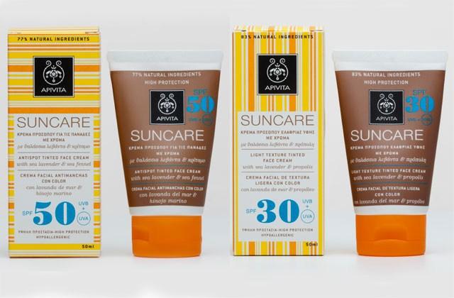 Apivita suncare, crema facial de textura ligera SPF30