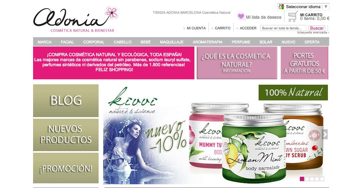 Comprar cosmetica natural online
