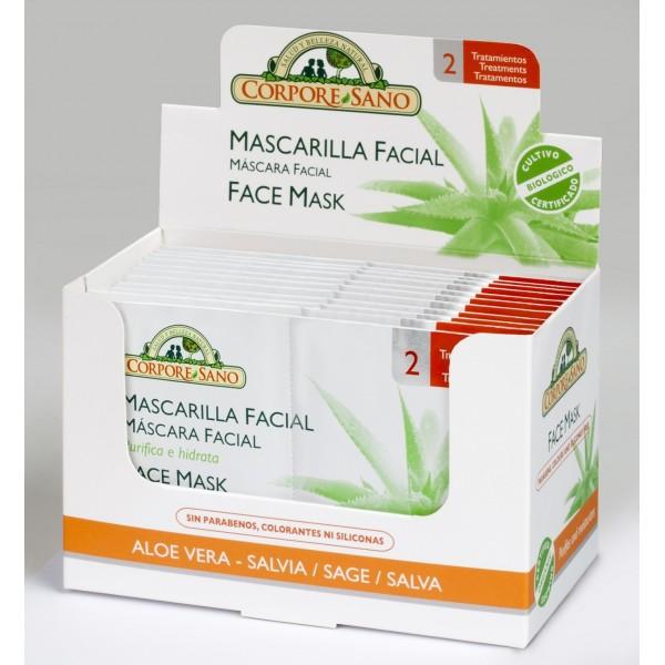 Mascarilla facial Corpore Sano Aloe vera & Salvia