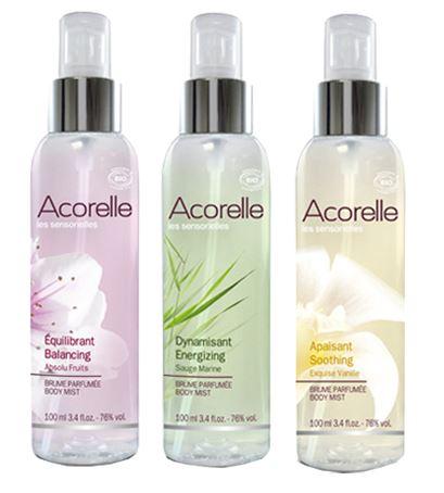 Acorelle body mist: Fragancias 100% naturales