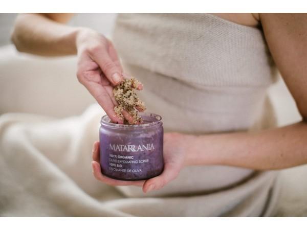Exfoliante de aceite de oliva 100% Bio de Matarrania